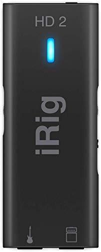 IK Multimedia iRig HD 2 - Interfaz audio, Sonido Profesional de 96kHz, funciones listas para escenario, rockea en todas partes con tu iPhone, iPad o Mac/PC - Negro