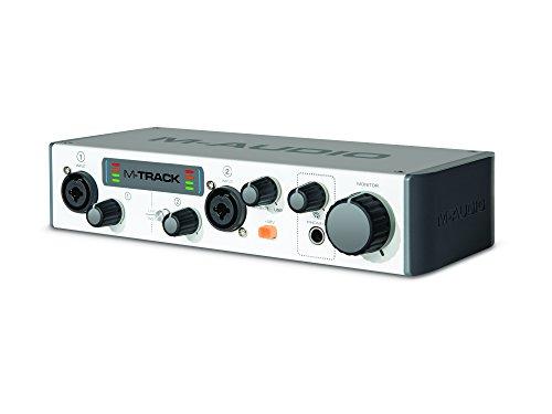 M-Audio M-Track II - Interfaz de audio USB de 2 canales (Ableton Live Lite, plug-ins de Waves, Songwriter Suite), color gris
