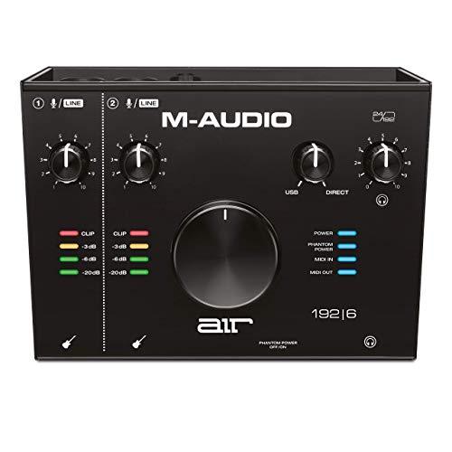 M-Audio AIR 192|6 - Interfaz de audio MIDI / tarjeta de sonido USB / USB-C, 2 entradas, 2 salidas, software de estudio, ProTools|First, Ableton Live Lite, Eleven Lite y efectos de Avid y AIR MusicTech