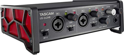 Tascam Interfaz de audio USB versátil US-2x2HR 2 Mic 2 IN/2OUT de alta resolución (US2X2HR)