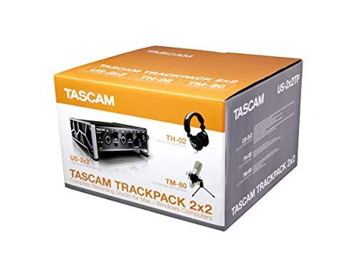 Tascam TRACKPACK 2x2 – Paquete completo de iniciación a la grabación