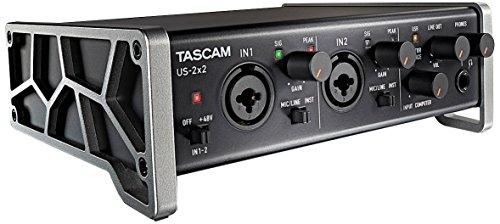 Tascam US-2x2 – Interfaz audio/MIDI USB (2 entradas, 2 salidas)