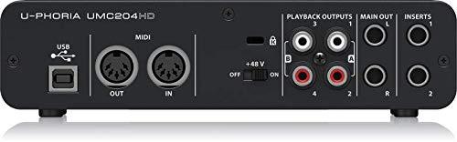 Behringer UMC204HD - panel posterior
