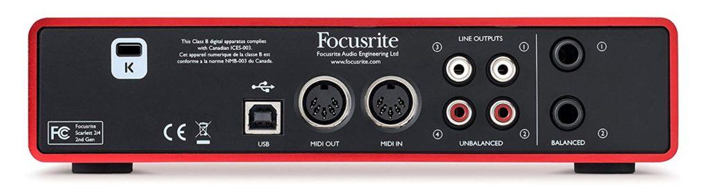 tarjeta de audio Focusrite Scarlett 2i4 2nd Gen