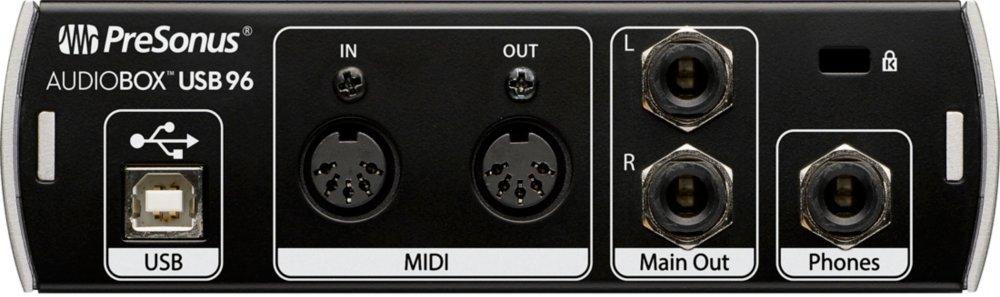 tarjeta de audio usb - Presonus AudioBox USB 96 - panel trasero