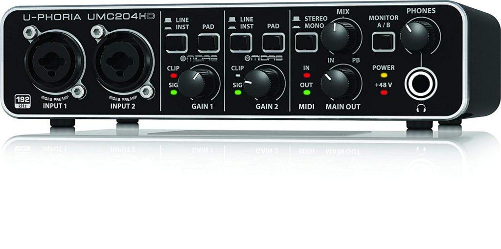 tarjeta de audio usb - Behringer UMC204HD U-Phoria