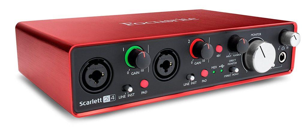 Tarjeta de sonido externa Focusrite  Scarlett 2i4 2nd Gen