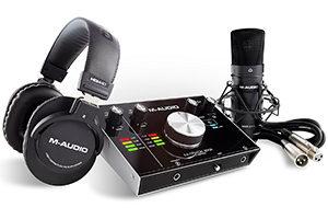 Pack de grabación M-Audio M-Track 2x2