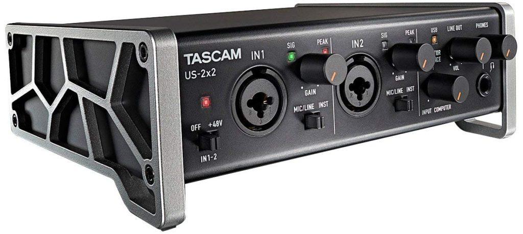 Tarjeta de sonido externa Tascam US-2x2