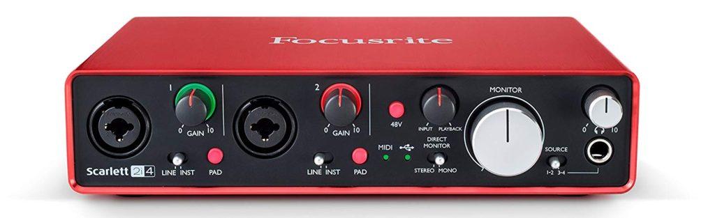 Interfaz de audio Focusrite Scarlett 2i4 2nd Gen