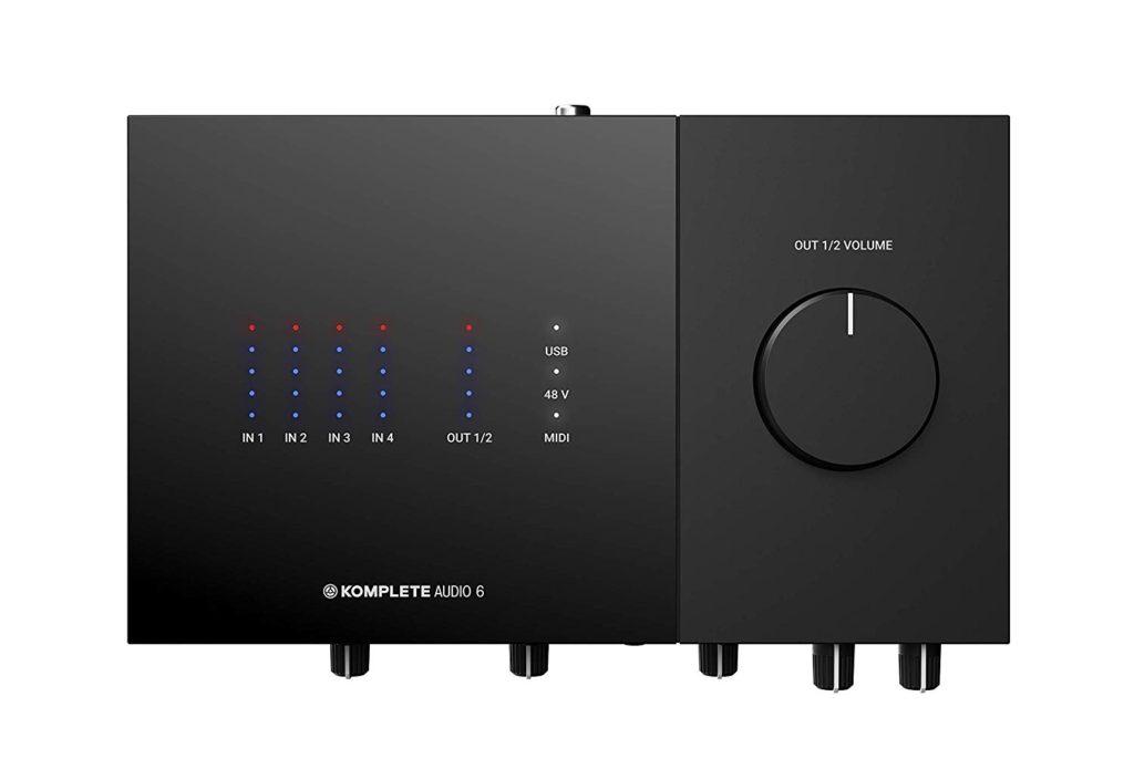 Interfaz de audio Native Instruments Komplete Audio 6 - panel superior