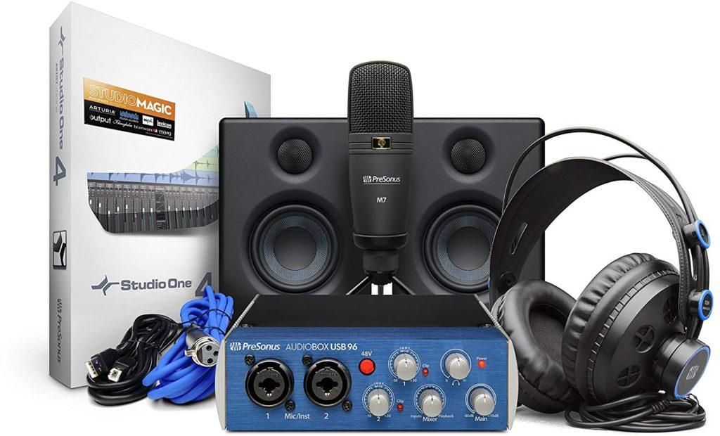 Pack micrófono y tarjeta de sonido Presonus AudioBox USB 96