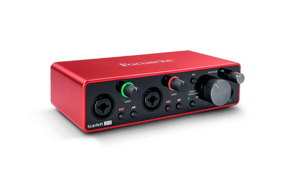 Interfaz de audio Focusrite (3ª G)