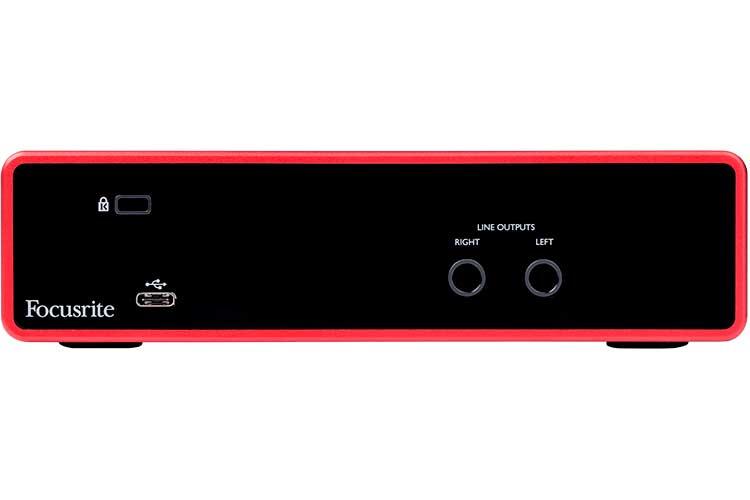 tarjeta de audio Focusrite Scarlett 2i2 (3ª G) - panel posterior