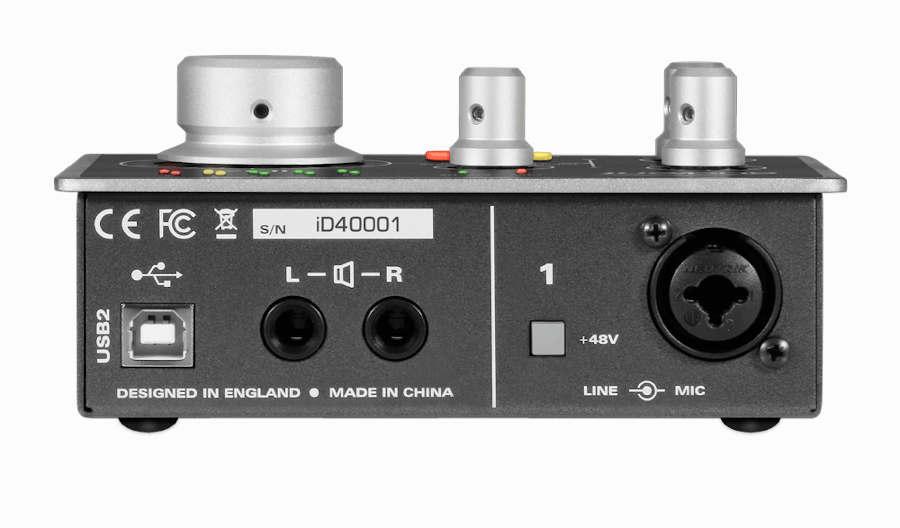tarjeta de sonido AUDIENT ID14 - panel  posterior