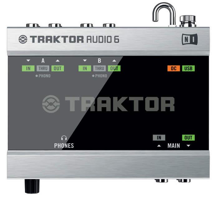 Native Instruments Traktor Audio 6 - panel superior