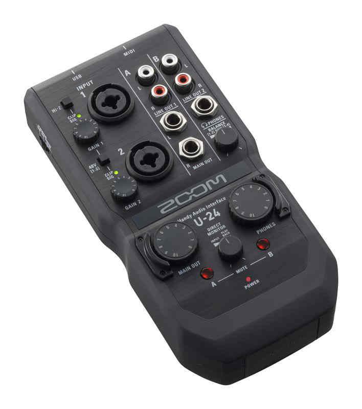 Interfaz de audio Zoom U-24