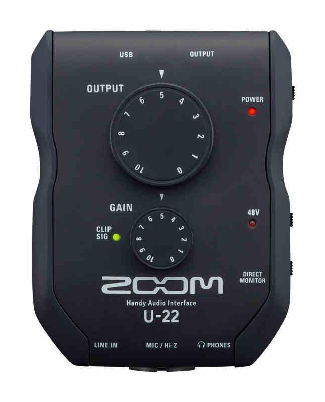 Tarjeta de sonido Zoom U-22