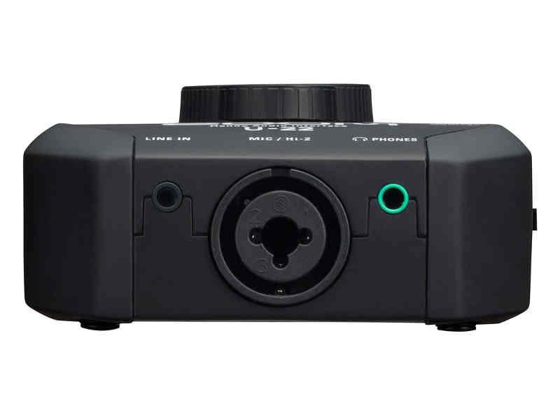 Interfaz de audio Zoom U-22 - panel frontal