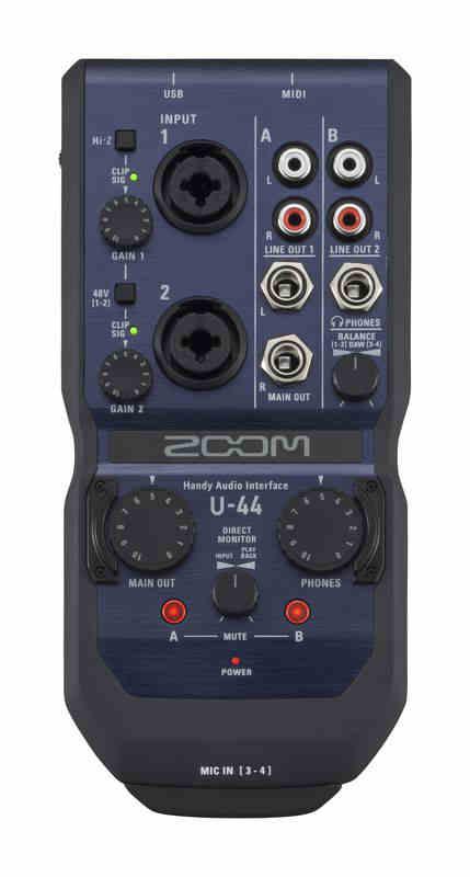 Tarjeta de sonido Zoom U-44