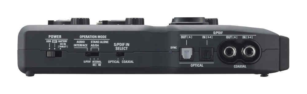 tarjeta de audio Zoom U-44 - panel lateral