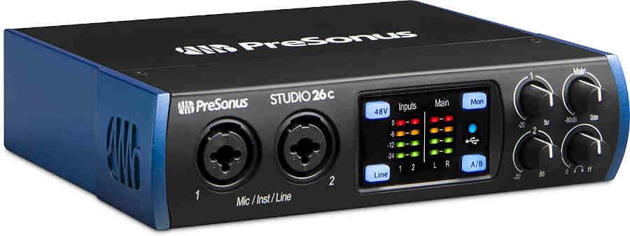 Interfaz de audio Presonus Studio 26c