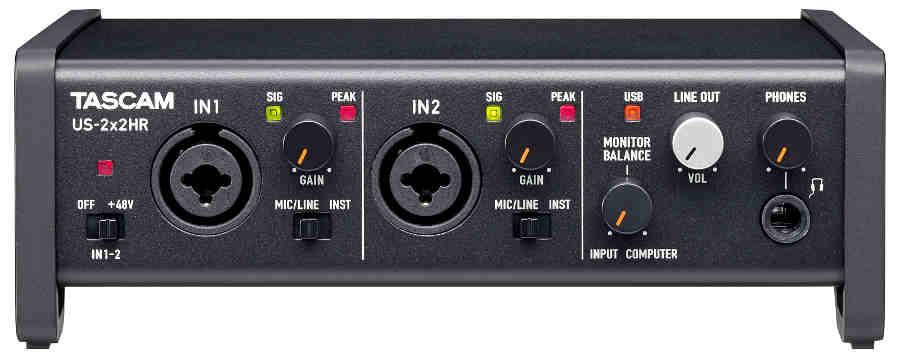 Tarjetas de sonido Tascam externa US-2×2HR