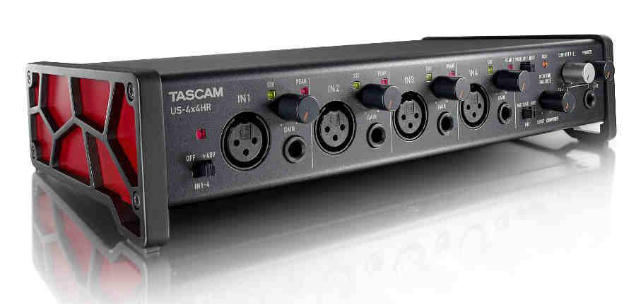 Interfaz de audio Tascam US-4x4HR