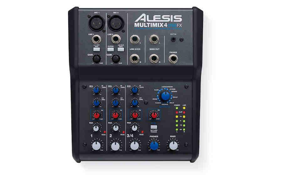 tarjeta de audio Alesis Multi Mix 4 USBfx