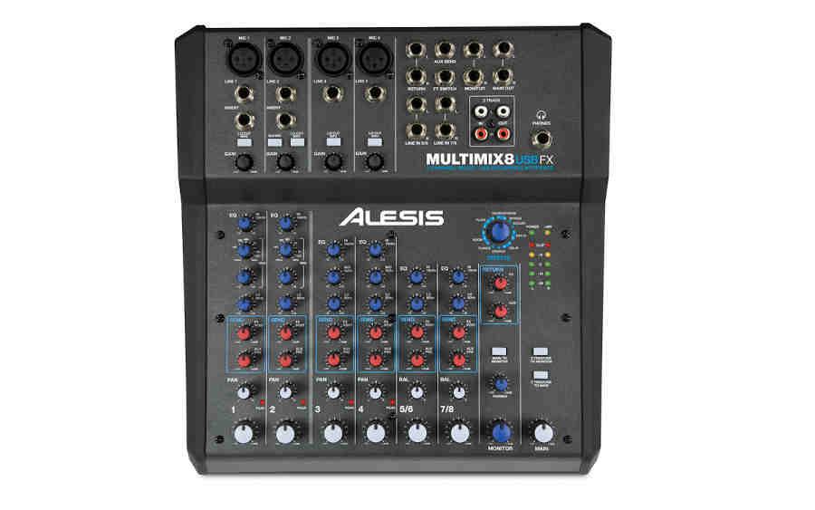 tarjetas de sonido Alesis_Multi Mix8 USB FX