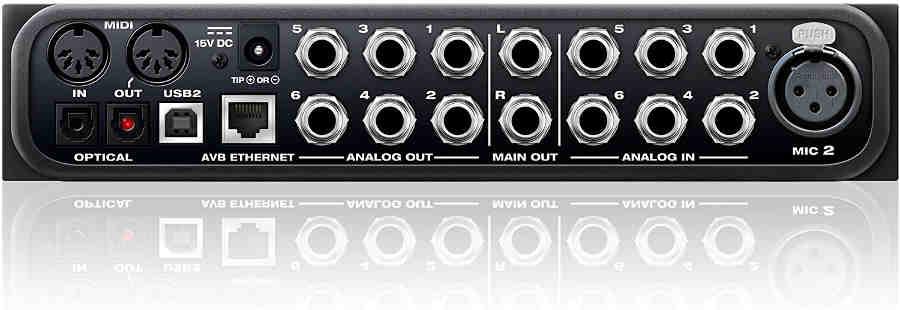 tarjeta de audio Motu AVB ULTRALITE - panel posterior