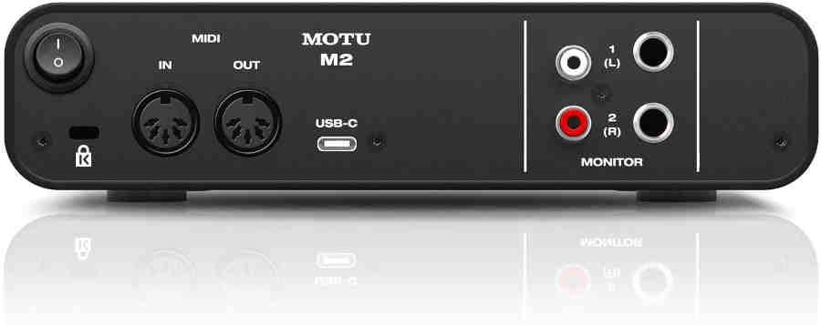 Interfaz de audio Motu M2 - panel posterior