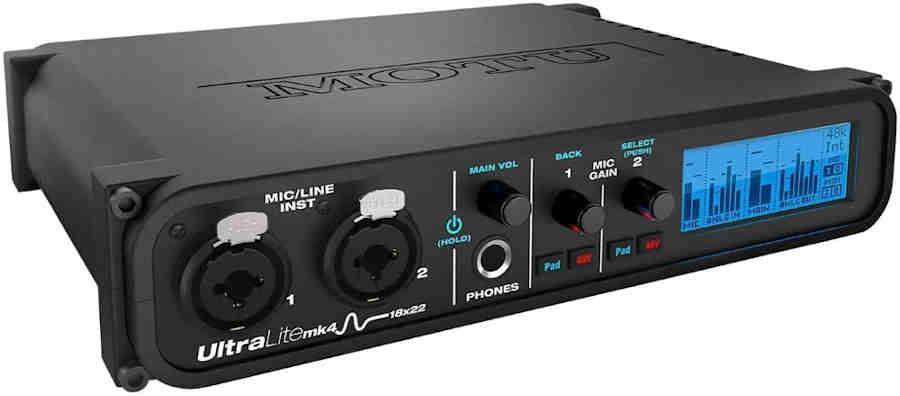 Interfaz de audio Motu Ultra lite Mk 4