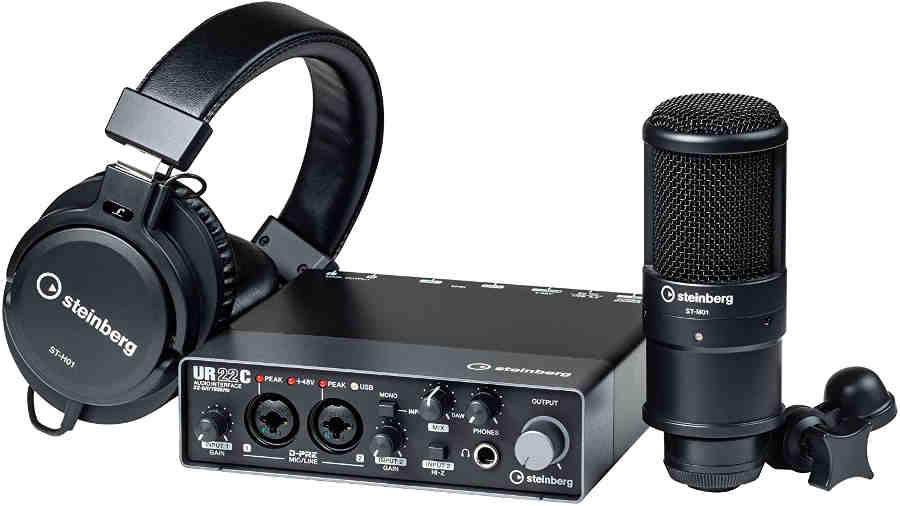 Pack micrófono y tarjeta de sonido UR22C de Steinberg