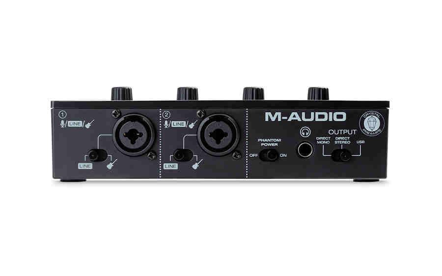 Interfaz de aduio M-Audio M-Track Duo - panel frontal