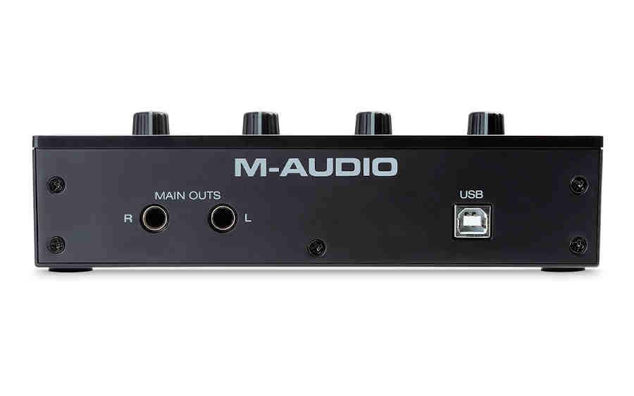 Tarjeta de audio M-Audio M-Track Duo - panel posterior