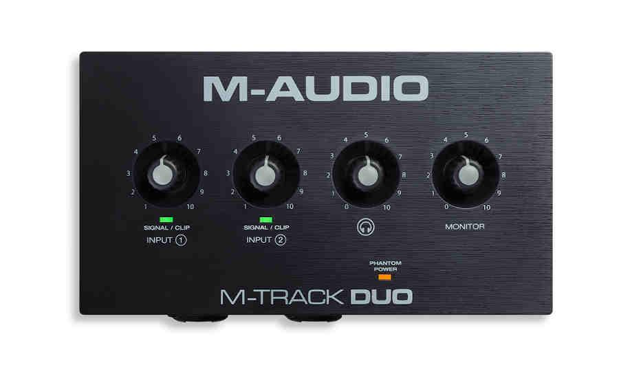 Tarjeta de sonido M-Audio M-Track Duo - panel superio