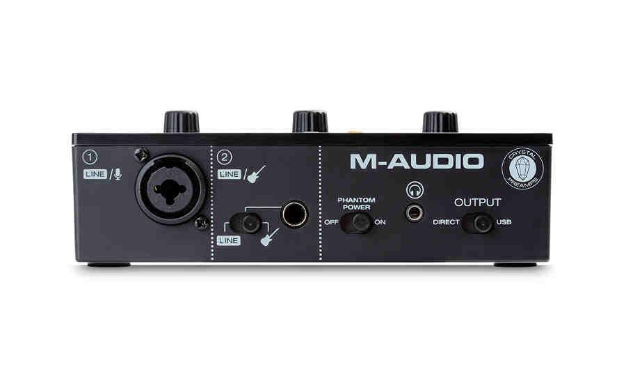 Interfaz de audio M-Audio M-Track-Solo- panel frontal