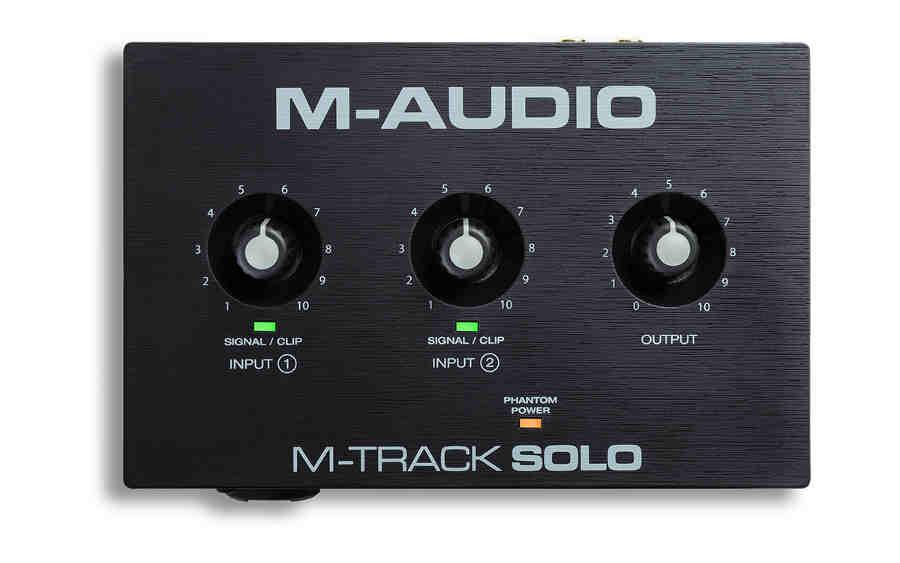 tarjeta de sonido Ma Audio M-Track-Solo-panel superior