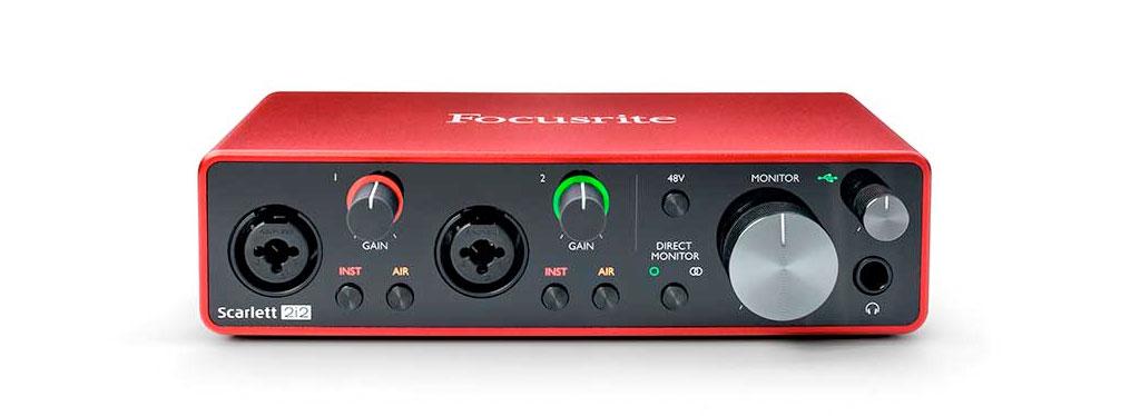 Focusrite Scarlett 2i2 3ª generación - tarjeta de sonido externa