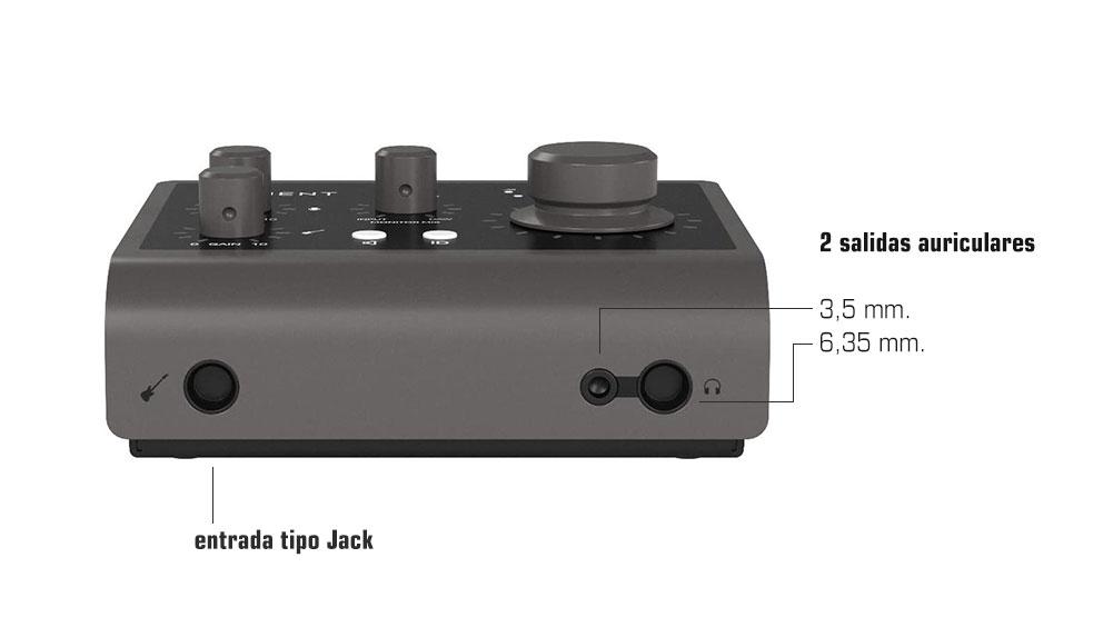 Audient ID4 MKII - 2 salidas auriculares y entrada tipo Jack