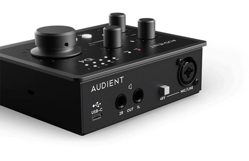 Tarjeta de sonido Audient ID4 MKII - panel posterior