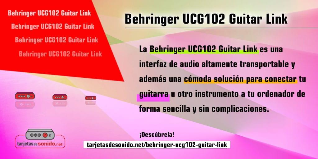 Tarjeta de sonido Behringer Guitar Link - conecta tu guitarra