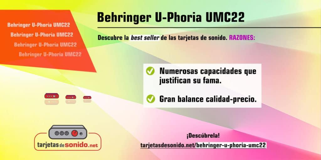 Tarjeta de sonido Behringer UPhoria UMC22