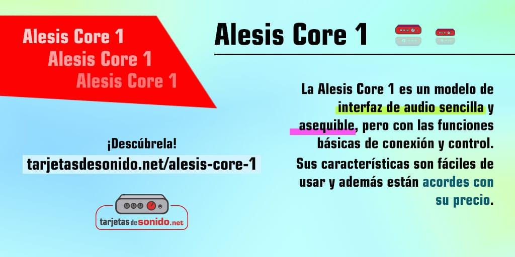 Interfaz de audio Alesis Core 1