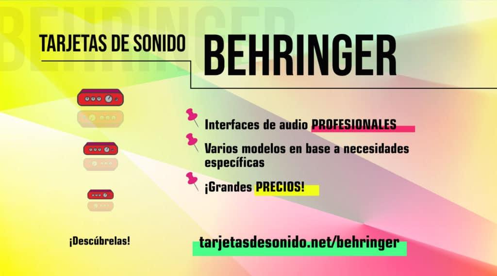 Tarjetas de sonido Behringer