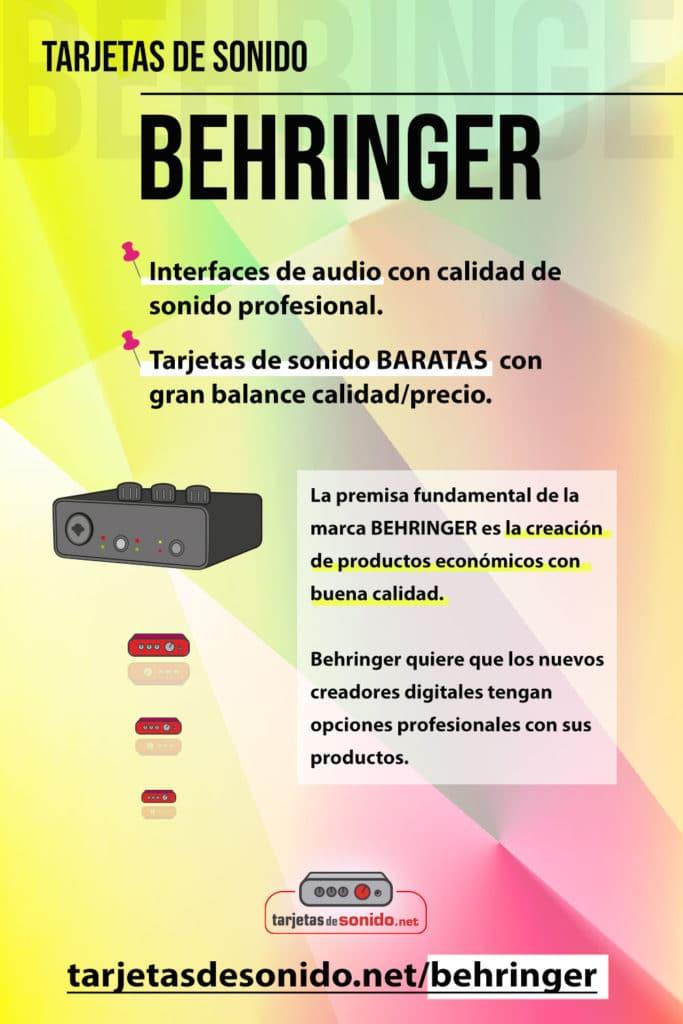 Tarjetas de sonido Behringer | gran balance calidad/precio