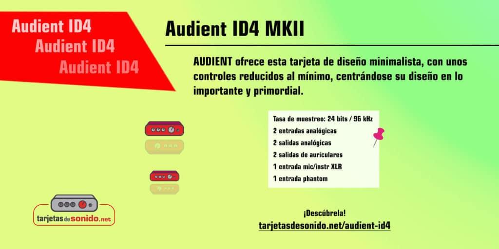 Tarjeta de sonido Audient ID4 MKII