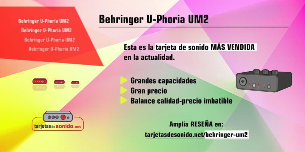 Tarjeta de sonido Behringer U-Phoria UM2